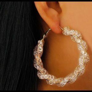 😍😍 Hot! Gold CZ earrings!
